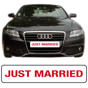 "Cache-plaque ""just married"" par webbycom"