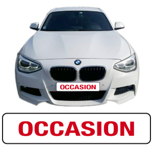 "Cache-plaque ""occasion"" par webbycom"