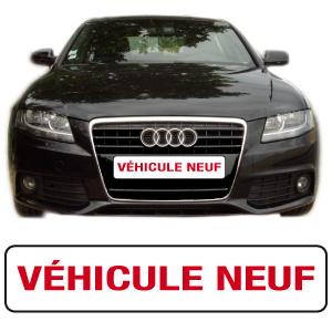 """Cache-plaque """"vehicule neuf"""" par webbycom"""