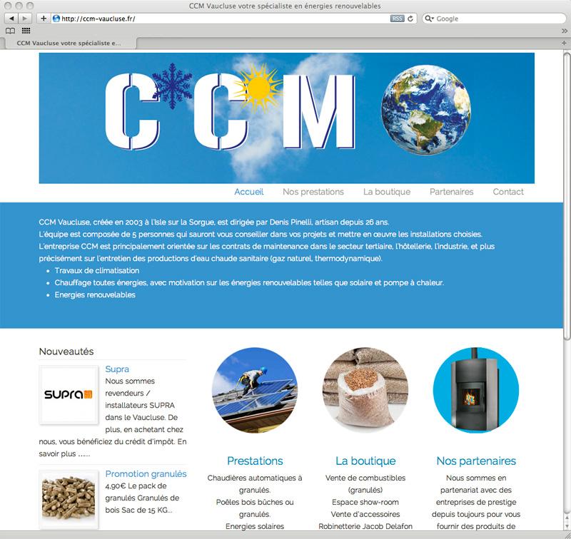 Site internet de CCM Vaucluse par Webbycom