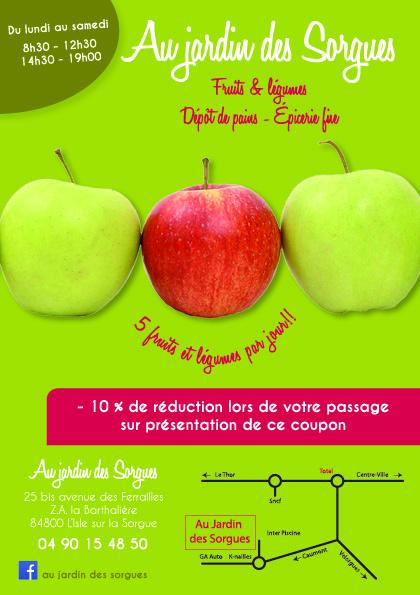 Flyer Au Jardin des Sorgues