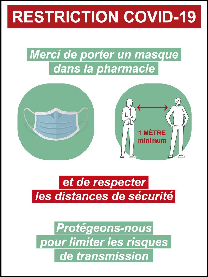 panneau information covid pour pharmmacie par webbycom