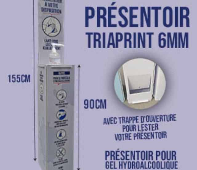 présentoir pour gel hydroalcoolique par webbycom
