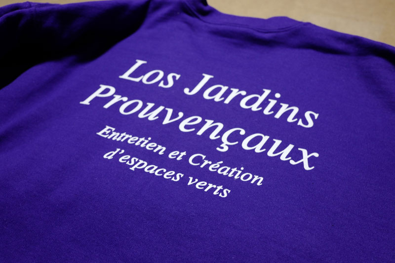 webbycom fabrique les textiles pour les professionnels du jardin : bonnet, sweat, tee-shirt, veste, softshell, pantalon, short