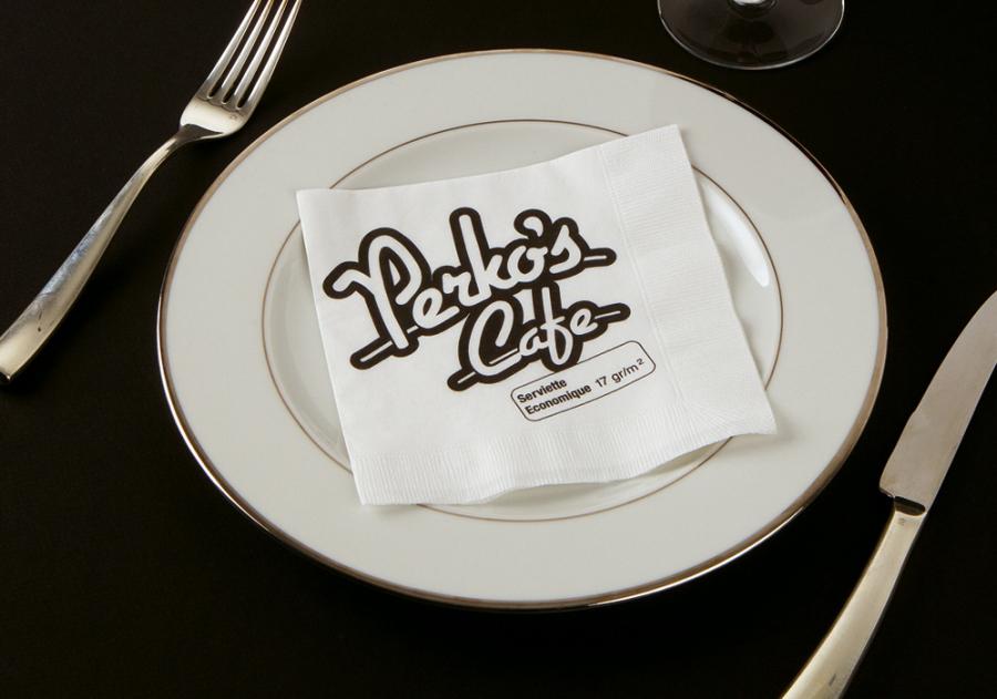 Serviette papier imprimée pour restaurant par webbycom