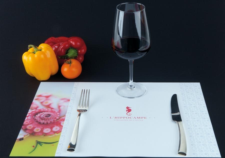 webbycom propose des sets de table personnalisés pour les professionnels de la restauration : bar, restaurant, camping, brasserie, glacier