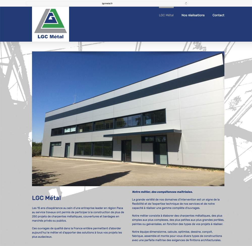 Site internet de LGC Métal par webbycom