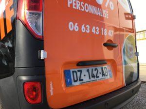 Semi covering par webbycom, spécialiste en marquage de véhicules dans le Vaucluse